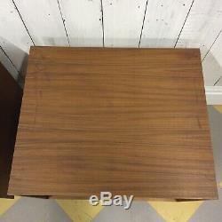 #1 Pair Teak Swedish Bedside Record Cabinets Vtg Mid Century Danish Table Gplan