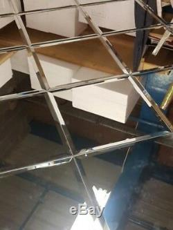 12 Square Bevel edge mirror tiles for stunning visual effects various sizes