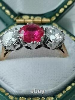18 ct yellow gold and platinum Art deco style ring 3.8 g
