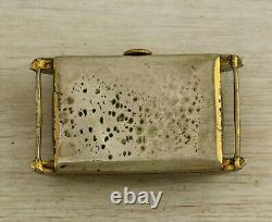 1940's Vintage art deco RECORD Swiss made wristwatch tank case black dial