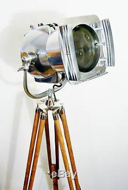 1950's Vintage Theatre Lamp Floor Light Art Deco Silver MID Century Strand Retro