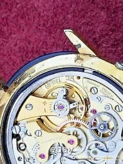 1974 Serviced Vintage WAKMANN Triple Calendar Date Chronograph Valjoux 730 72c