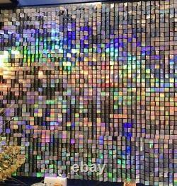 20x Iridescent Sequin Wall Panels