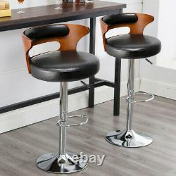 2Pcs Breakfast Bar Stools Broadway Vintage High Seat Chair Home Kitchen Pub UK