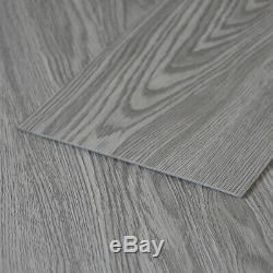36pcs Room Floor Tiles Vinyl PVC Flooring Planks Self-adhesive Tile Light Grey