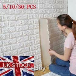 3D PE Brick Waterproof Wall Sticker Self Adhesive Panel Home DIY Wallpaper 7077