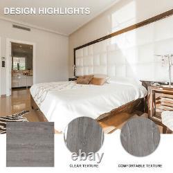 4.1m² Floor Planks Tiles Self Adhesive Grey Wood Vinyl Flooring Kitchen Bathroom