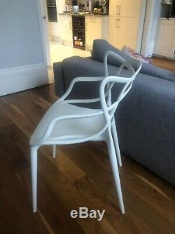 4 X White Kartell Masters Dining Chairs used Collection NW1