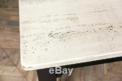 8ft Country Farmhouse Kitchen Table Reclaimed Pine Painted Base Burford