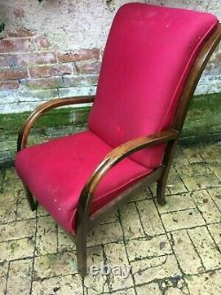 A pair of Vintage Halabala Art Deco style Bentwood arm chairs