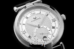 Alexander Swiss Made Ladies Watch Stainless Steel Black Satin Strap Silver Dial