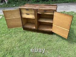 Antique Art Deco Sideboard Dresser Drinks Cabinet Storage Drawers Carved Hallway