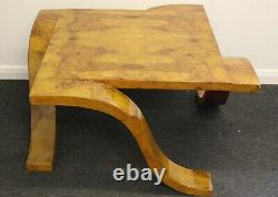 Antique Art Deco Style Furniture Walnut Occasional Coffee Table C4