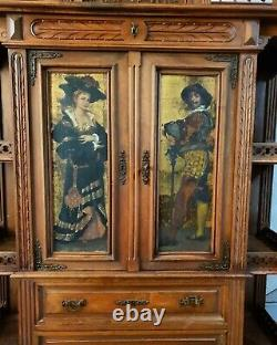 Antique Display Cabinet, French 19th Century Cabinet, Vintage Cabinet
