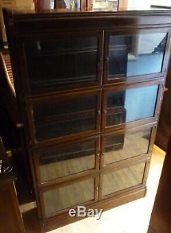 Antique Minty Oxford Four Section Bookcase Stands 143cm High
