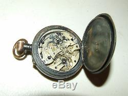 Antique Victorian Swiss Chronograph 17 Jewel Pocket Watch with 30 Minute Register