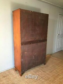 Antique Vintage Wardrobe Armoire Linen Press Cupboard C. 1950's Solid Wood VGC