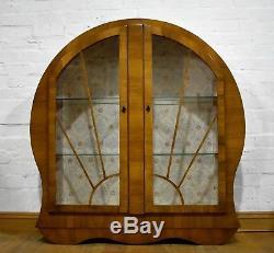 Antique vintage Art Deco style retro display cabinet