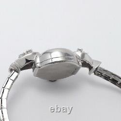 Art Deco 14k White Gold Diamond Alben Ladies Wind Up Watch Appraisal