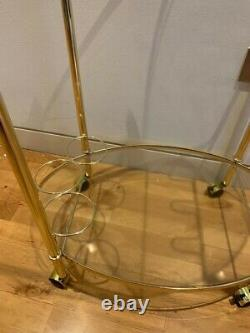 Art Deco Bar Cart/Drinks Trolley Gold
