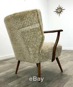 Art Deco Odeon style cocktail arm chair. Vintage mid-century