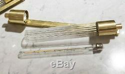 Art Deco Skycraper Style Wall Light Sconce Lamp. Brass And Glass