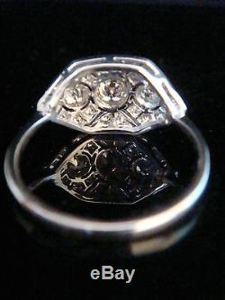 Art Deco Style 18ct Diamond Pave Set Cluster Ring 0.80ct