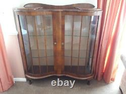Art Deco Style Glass Display / Drinks Cabinet