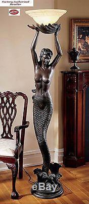 Art Deco Style Greek Goddess Offering Mermaid 73 Sculptural Floor Lamp