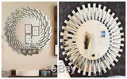Art Deco Wall Hanging Round Mirrors Venetian Swirl Mirror Sunburst Effect Decor