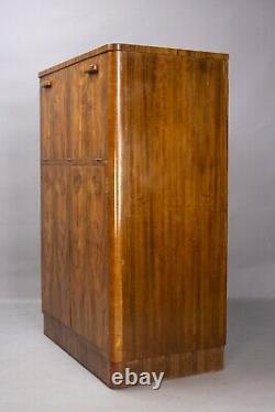 Art Deco walnut cocktail cabinet Gold &Feather, Leeds 1930s vintage retro bar