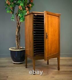 Attractive Antique Edwardian Oak Paisley School Cabinet Filing Cupboard