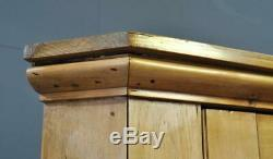 Attractive Large Tall Antique Victorian Rustic Pine Corner Cabinet Cupboard