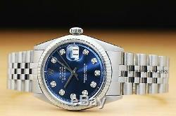Authentic Rolex Mens Datejust Rolex 18k White Gold Bezel Watch & Rolex Band
