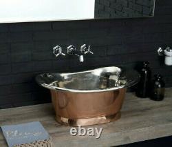 Bathtub Basin sink -Copper sink oval-copper Bathroom countertop sink