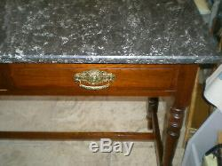 Beautiful Vintage Wash Stand with Solid Marble Top & Two Drawers suit any room