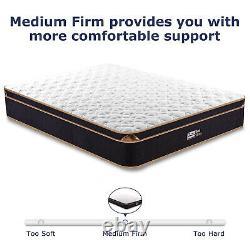 BedStory 10in Memory Foam Single Mattress Pocket Sprung Hybrid Mattresses Firm