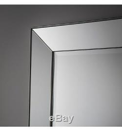 Bertoni X Large Venetian Leaner floor wall Bevelled Mirror Angled Frame 75x32