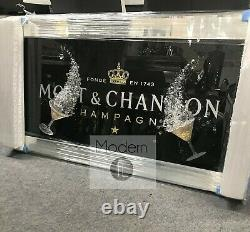 Black Moet & Chandon Champagne Picture with 3D Glasses and Sparkle Detail