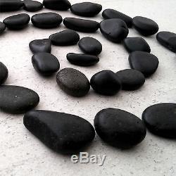 Black Pebbles Natural Decorative Stones Rocks Cobbles Wedding Decor Aquarium