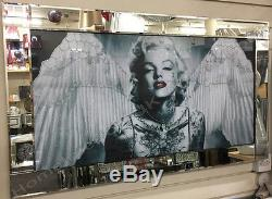 Black & white Marilyn Monroe pictures with wings, crystals & mirror frames
