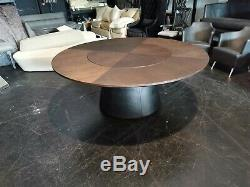 CAMERICH WALNUT UNITY DINING TABLE Lasy Susan LEATHER BASE