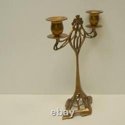 Candlestick Art Deco Style Art Nouveau Style Bronze