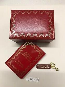 Cartier Must VLC SM Ladies Watch On Black Strap With Trinity Colour Dial