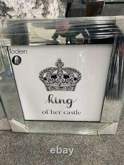 Contemporary King of Her Castle and Queen of His Heart, glitter diamond pictures
