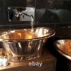 Copper Bathtub sink Countertop vanity- Vintage Bath Basin Bathroom