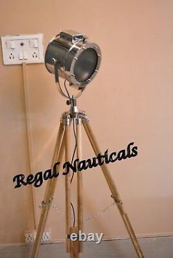 Corner Model Searchlight Teak Wood-Stand Home Decor Spotlight & Tripod Stand