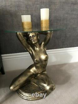 Design side coffee table naked girl