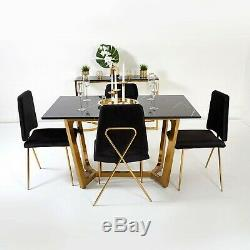Dining Chairs Soft Velvet Blush Pink Gold Brass Leg Chair For Dressing Table
