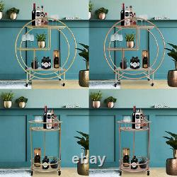 Drinks Trolley Bar Cart With Shelves Art Deco 30's Vintage Table Storage Rack